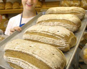 Bavarian Rye Bread presentation